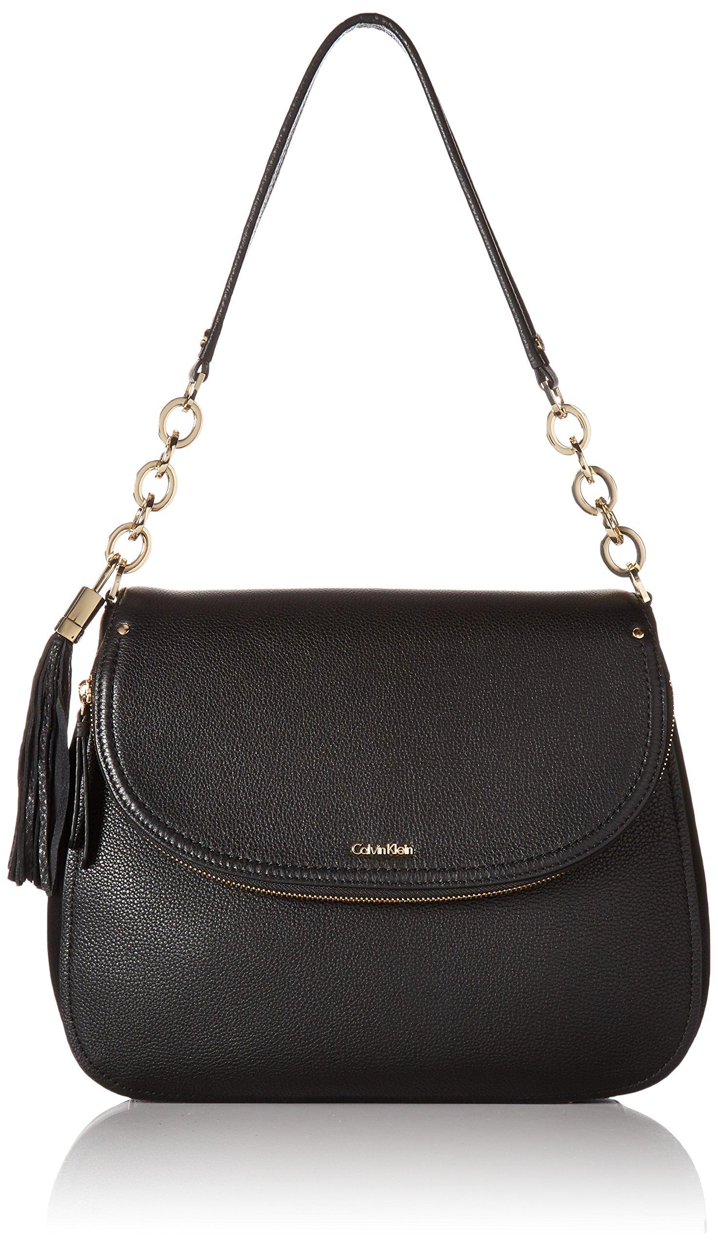 Calvin Klein Lynn Pebble Flap Hobo Shoulder Bag