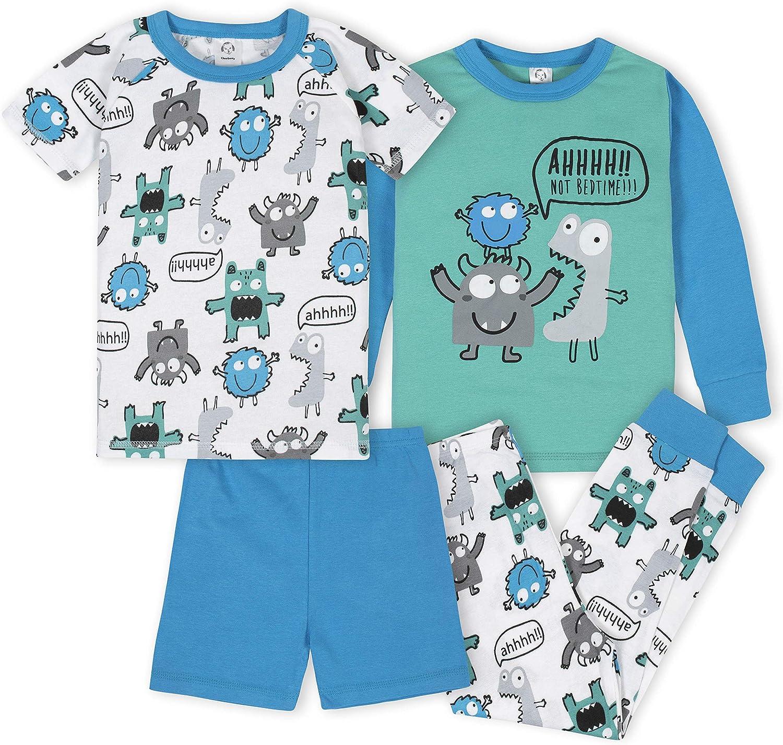 GERBER Baby Boys 4-Piece Pajama Set