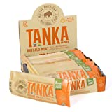 Meat Bars made with Buffalo and Cranberries by Tanka, Apple Orange Peel, Beef Jerky Alternative, Gluten Free Snacks, Paleo, (Pack of 12)