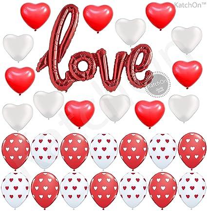 amazon com red love script balloons kit valentine decorations