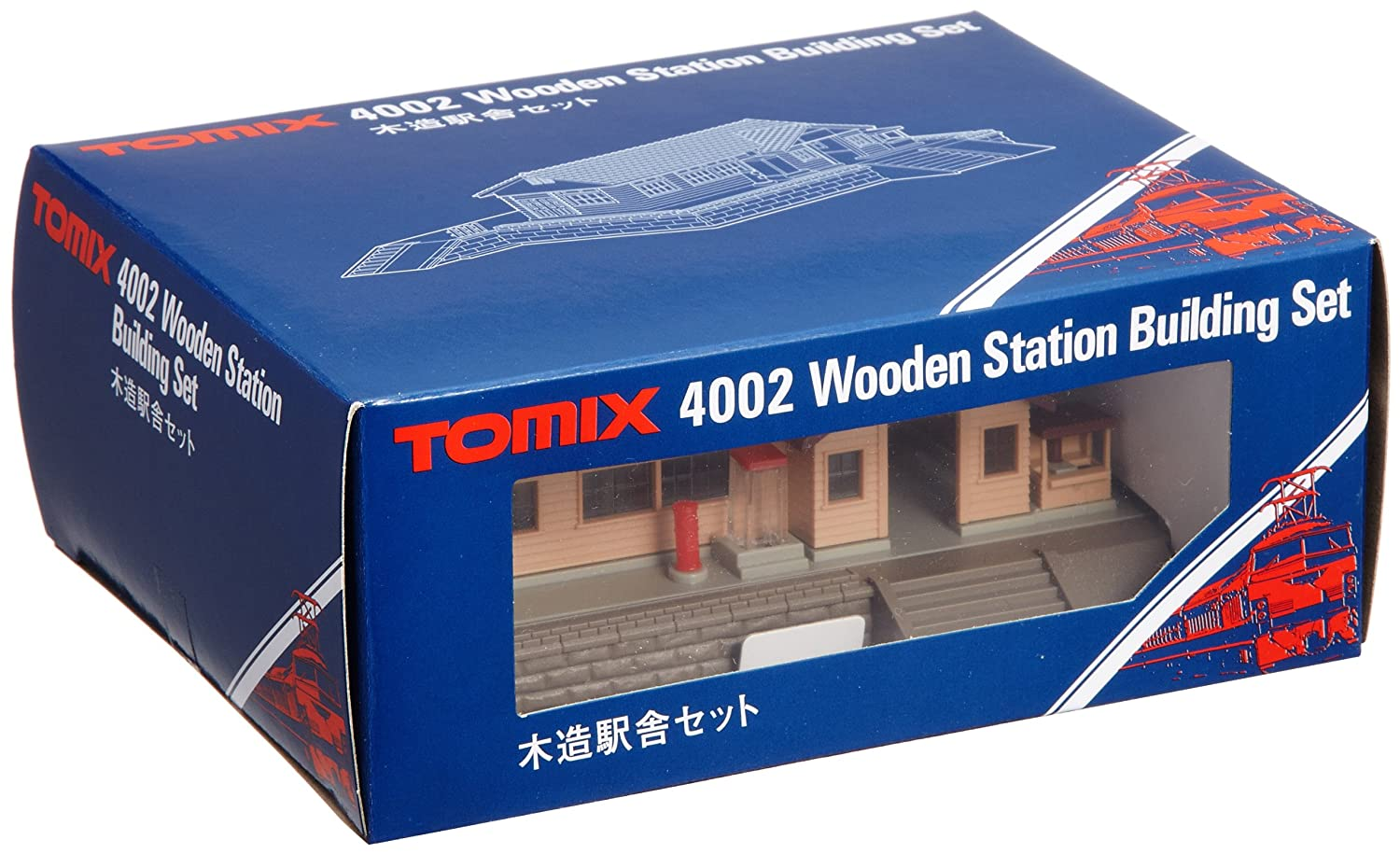 TOMIX N gauge wooden station building set 4002 by Tomytec