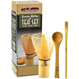 Bellemain 3-Piece Bamboo Matcha Tea Set Includes Whisk (Chasen), Scoop and Teaspoon