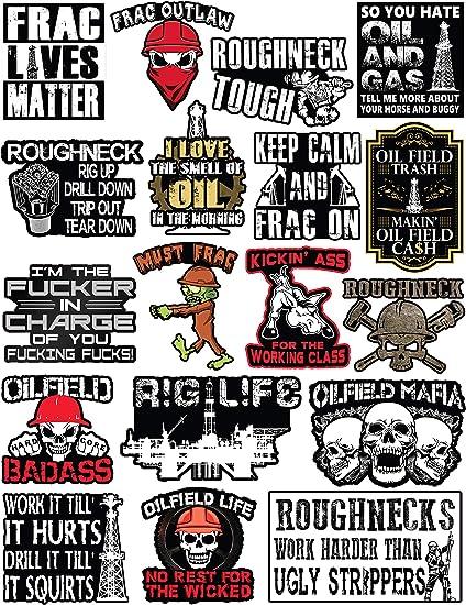 20 Oilfield Hard Hat & Tool Box Vinyl Stickers - Stickers
