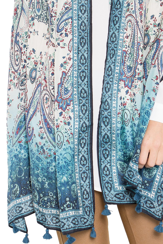 Fine Silk Scarf for Women-Luxury Fashion Print Extra Long Lightweight Wrap Shawl Headscarf by d'IRIS (Image #8)