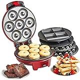 VonShef 3 in 1 Waffle, Brownie & Mini Doughnut Snack Maker