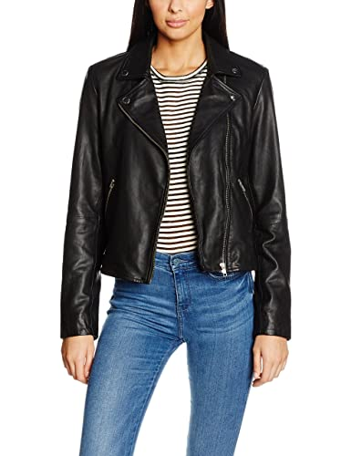 SELECTED FEMME Sfmarlen Leather Jacket Noos, Chaqueta para Mujer