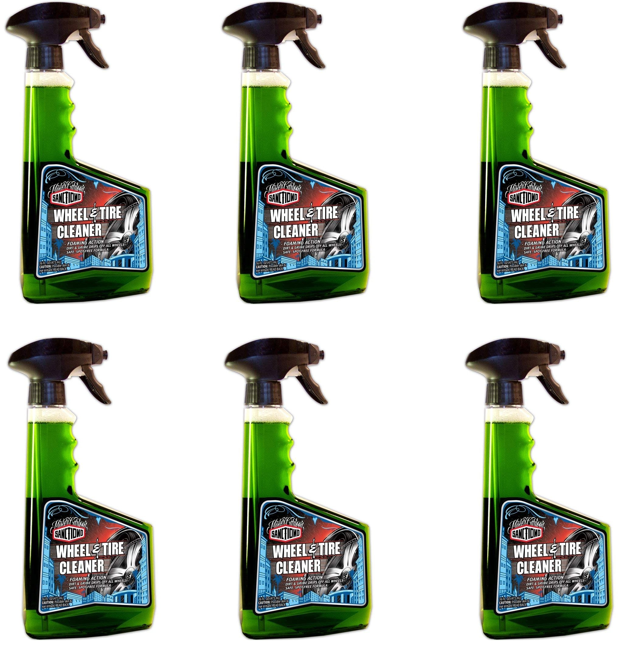Sanctiond W30016 Wheel and Tire Cleaner - 16 oz. (6)