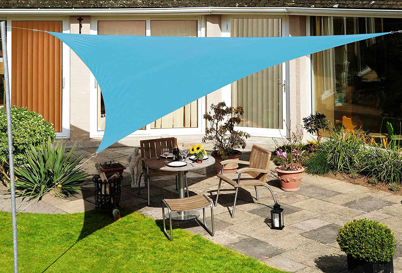 Kookaburra Waterproof Garden Sun Shade Sail Canopy in Turquoise 98/% UV Block 3.6m Square