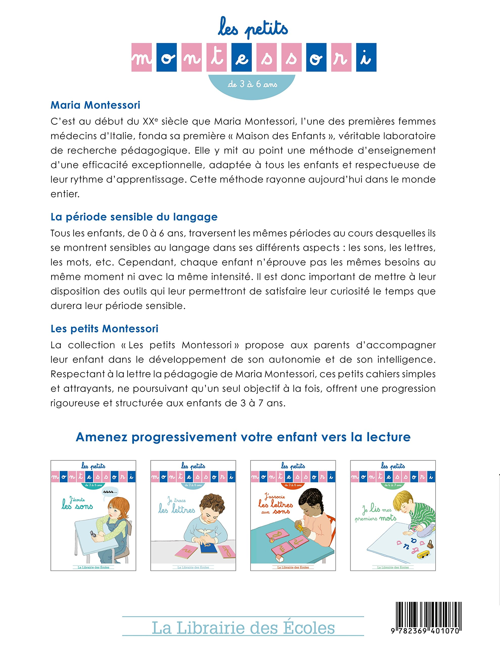 Amazon Fr Les Petits Montessori Je Trace Les Lettres Sylvie D