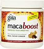 Gaia Herbs Maca Boost Supplement, Cacao-Ginger, 8-Ounce Bottle