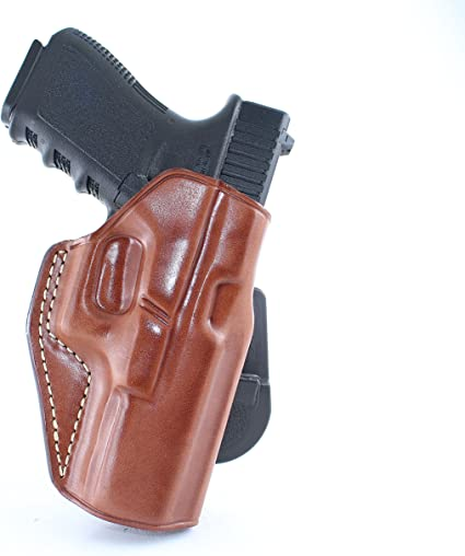Right handed Brown Leather Gun Holster for Glock 17 19 20 21 22 25 26 28 30 31