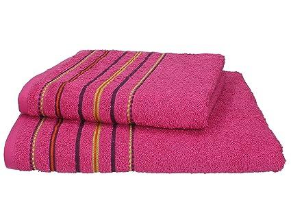 Betz Juego 2 Toallas (1 toalla de ducha 70 x 140 cm y 1 toalla