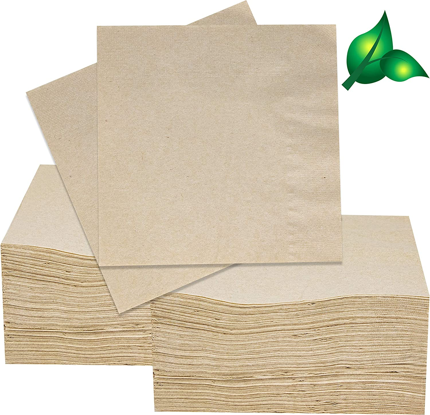 200 Eco Friendly Recycled Bar Biodegradable Napkins 5x5in Beverage Compostable
