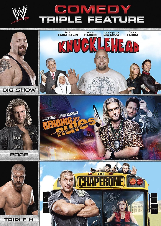 amazon com wwe multi feature comedy triple feature knucklehead