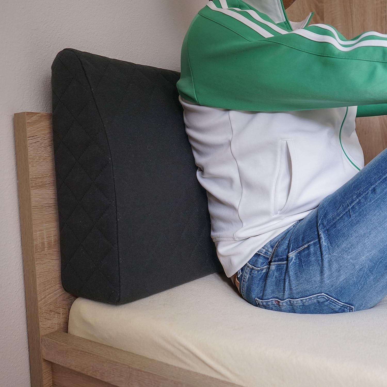 sabeatex® Respaldo para cama, respaldo acolchado, cojín de ...