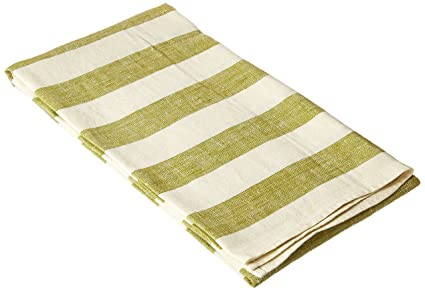 Amazon Com Linenme Linen Bath Towel 39 By 55 Inch Philippe Green