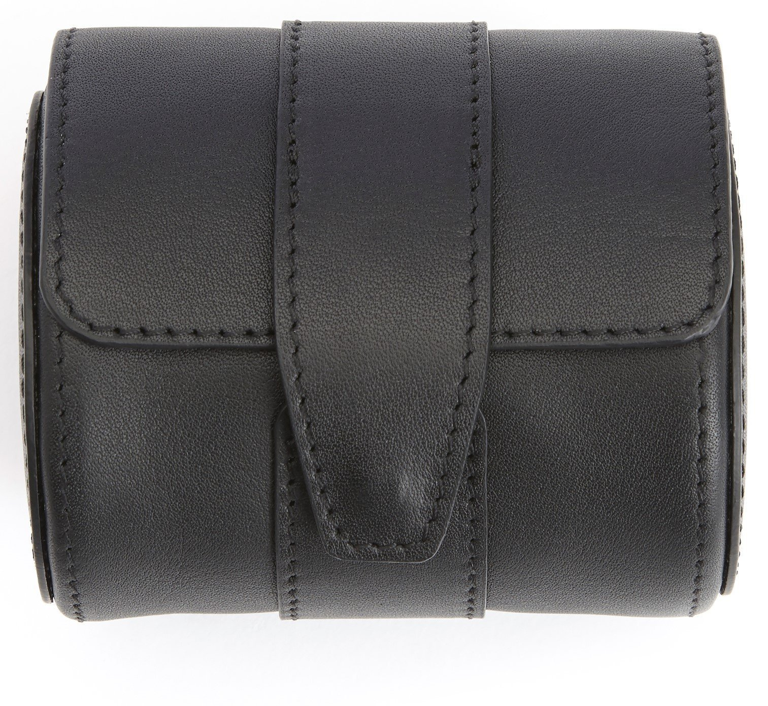 ROYCE Executive Travel Watch Roll in Smooth Genuine Leather with Suede Interior, Fits 1 Watch - Black