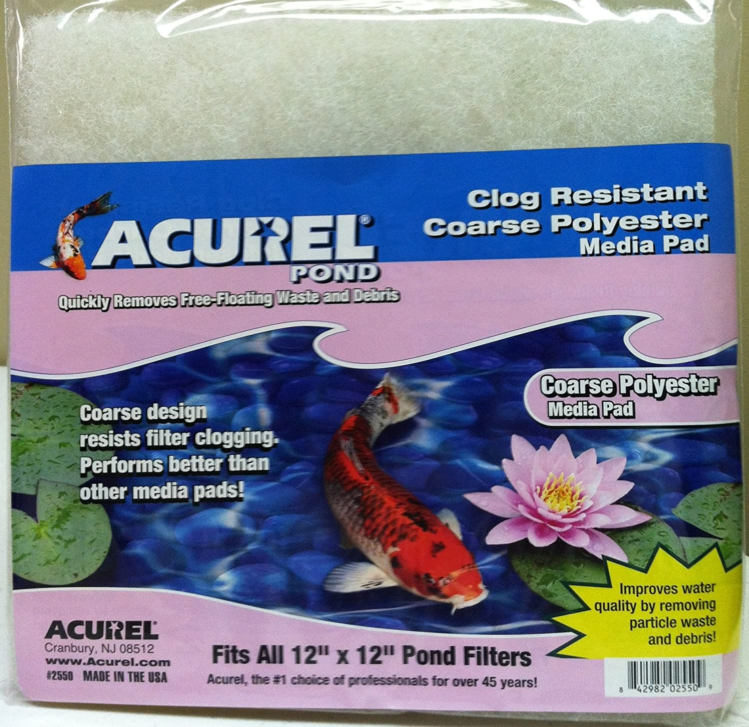 Acurel Coarse Polyester Media Pad 12-Inch by 12-Inch