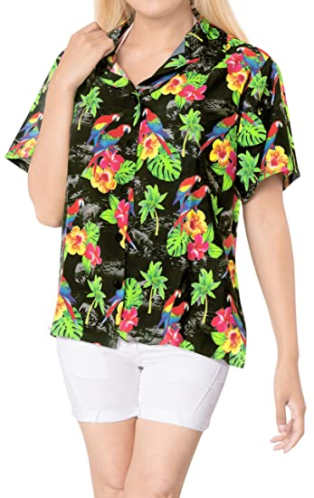 La Leela Blouses Beach Plus Size Button Down Women Shirt Holishort
