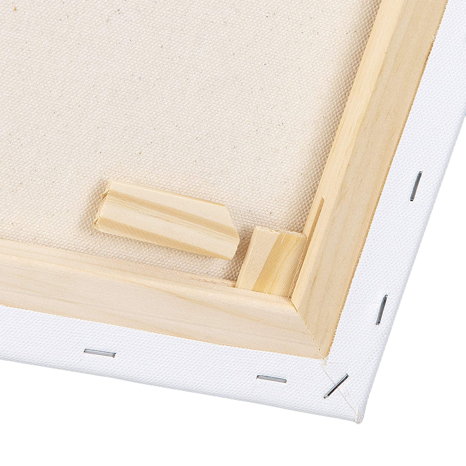 "Double Acrylic Primed Canvas on a Wood Frame Darice Cotton Stretched Canvas Medium Texture Canvas Acid Free 11/"" x 14/"" Canvas for Acrylic Paints Pack of 2"
