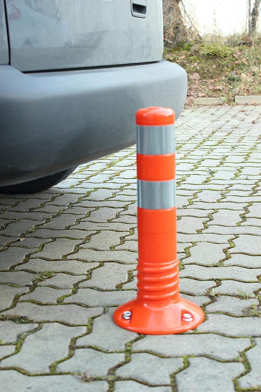 450 mm, Orange Flexibler Absperrpfosten aus Polyurethan