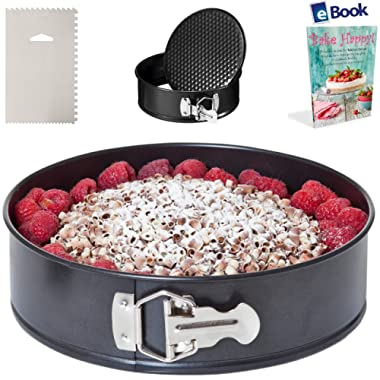 PREMIUM Springform Pan - Leakproof - Non-Stick - BEST Bundle - Fits Instant Pot Pressure Cooker 5, 6 Qt & 8 Quart - BONUS Accessories - Icing Smoother + eBook - Round Cake, Cheesecake | For Instapot