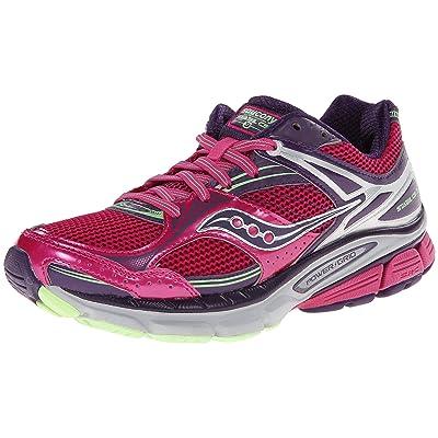 Saucony Women's Stabil CS3 Running Shoe, Berry/Green, 5 W US   Road Running