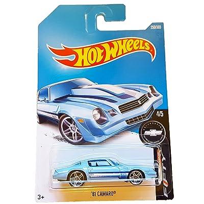 Hot Wheels 2020 Camaro Fifty '81 Camaro 250/365, Light Blue: Toys & Games
