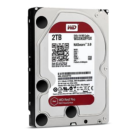 WD Red Pro - Disco Duro para Dispositivos NAS de sobremesa de 2 TB (Intellipower, SATA a 6 GB/s, 64 MB de caché, 3,5