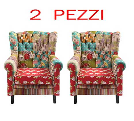 SET 2 POLTRONE PATCHWORK arredo design italiano a prezzo OUTLET ...