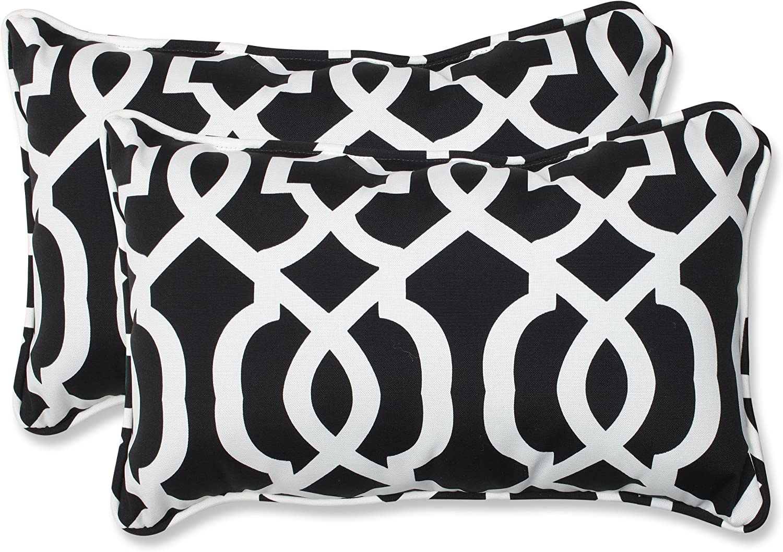 Pillow Perfect Outdoor/Indoor New Geo Lumbar Pillows, 11.5