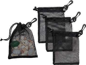 "5pcs Drawstring Mesh Bag Storage Pouch for Scuba Diving Snorkeling 9/""x6.5/"""