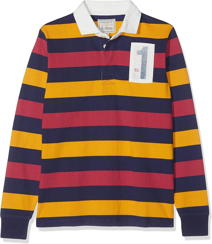 Hackett London Boys Amr Multi Ls Polo Shirt