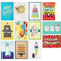 Hallmark Birthday Cards Assortment, 12 Cards with Envelopes (Premium Refill Pack for Hallmark Card Organizer Box)