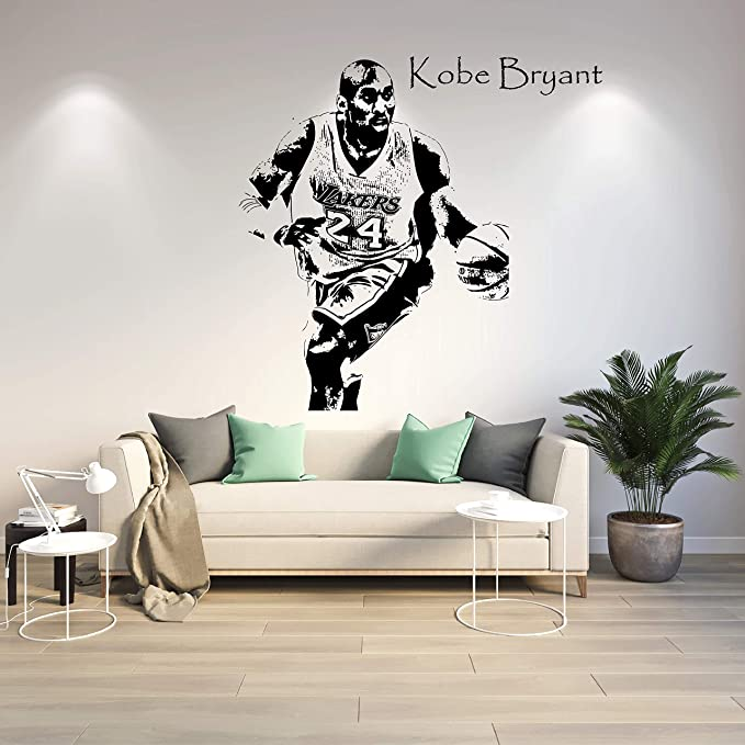 Kobe Bryant Wall Sticker Removable Waterproof Wall Poster Decor Wall Sticker