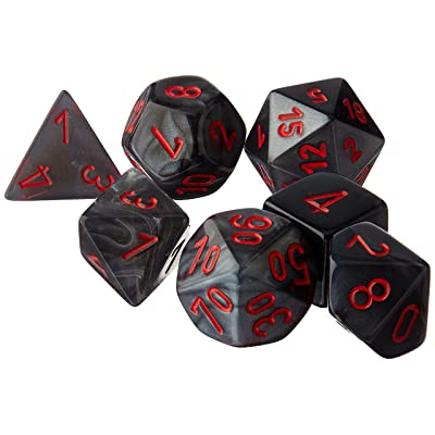 Chessex CHX27478 Dice-Velvet Set, Black/Red: Toys & Games