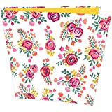 """Bloom Daily Planners Binder (+) 3 Ring Binder (+) 1 Inch Ring (+) 10"""" x 11.5"""" Inches - Vintage Floral Design"""