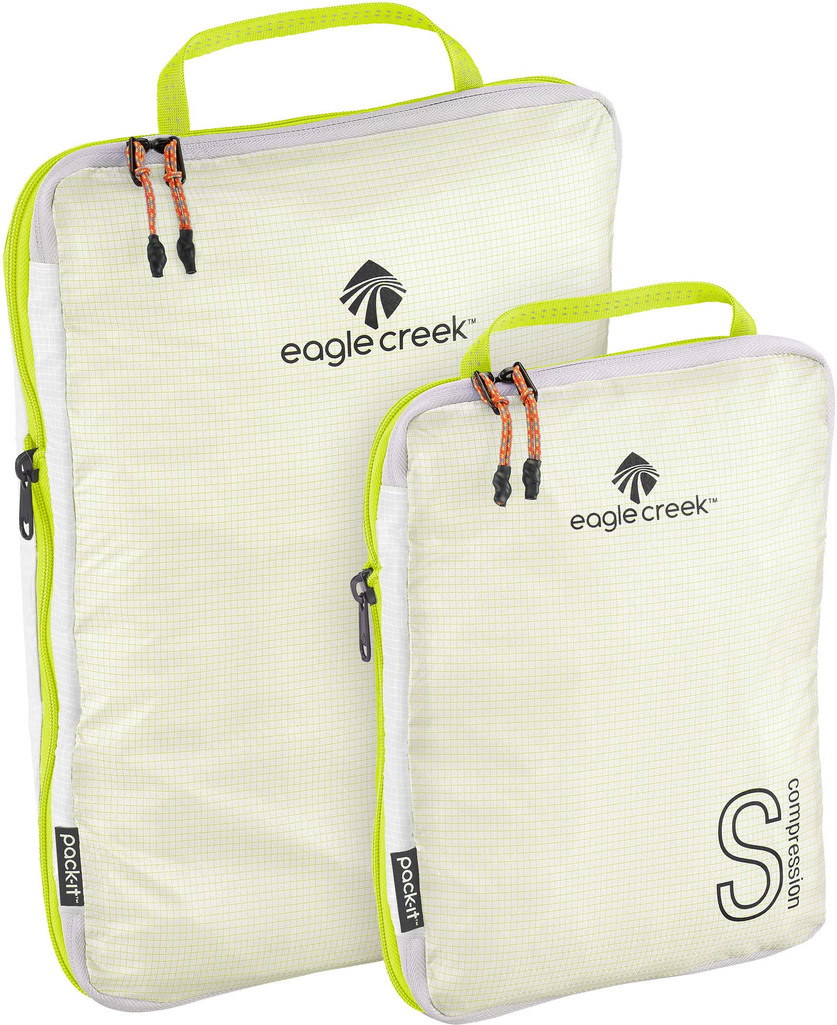 Eagle Creek Unisex Pack-It Specter Tech¿ Compression Cube Set S/M White/Strobe One Size