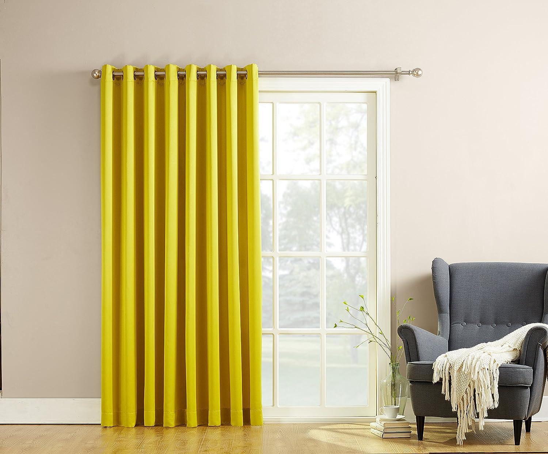 sun zero millennial becca extra wide energy efficient patio curtain panel 100 b ebay. Black Bedroom Furniture Sets. Home Design Ideas