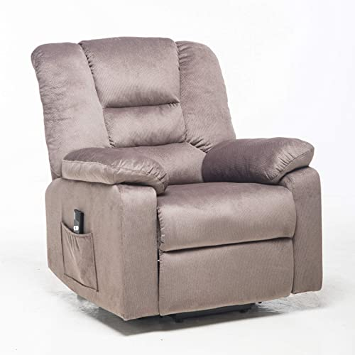 Recliner Chair,Velvet Fabric Power Lift Chair Sofa,Adjustable Tilt Angle Recliner Chair/Office Chair Thick Padding
