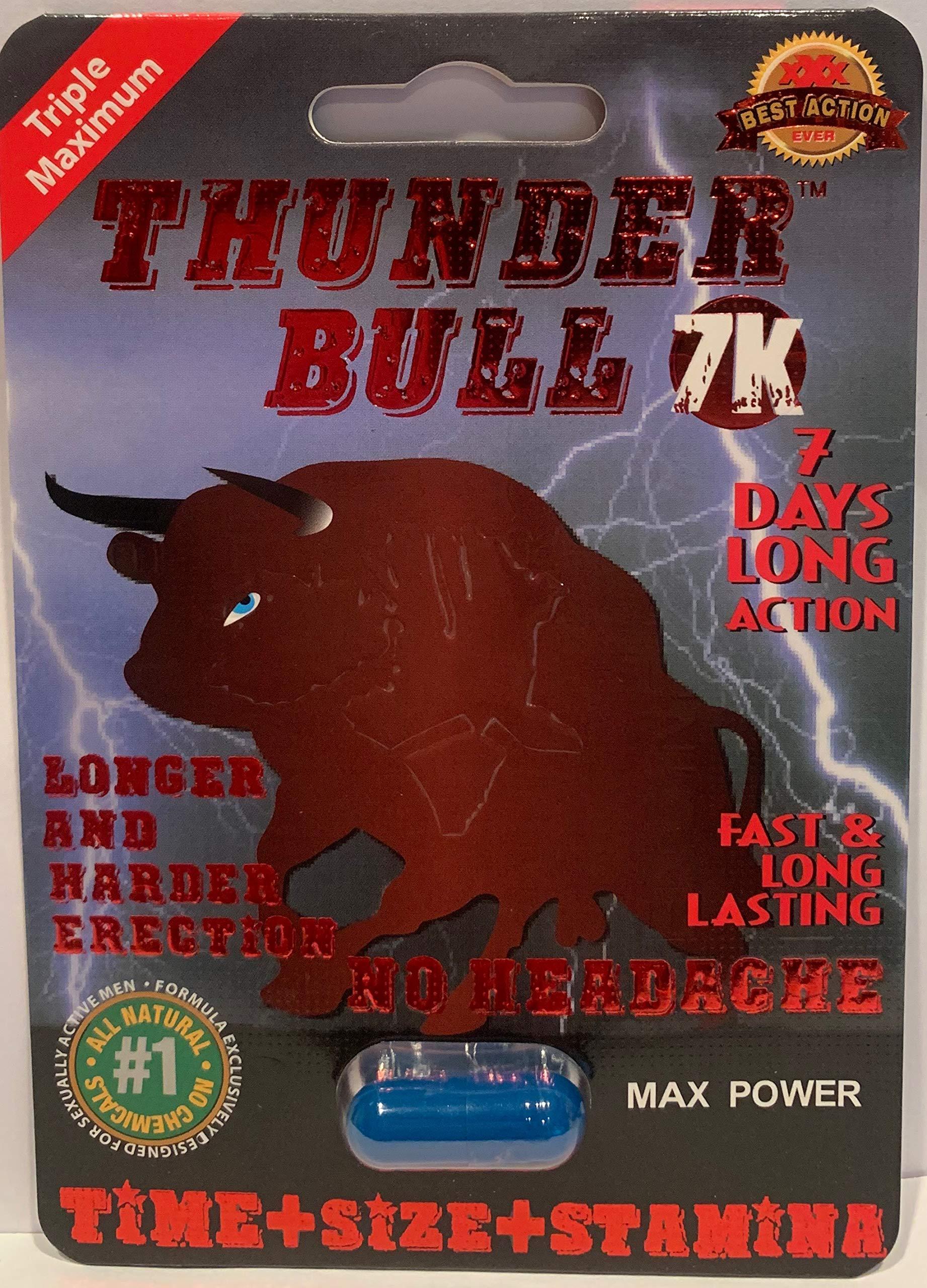 Thunder Bull 7k 24pills Triple Max Male Sexual Enhancement Pill 7 Days by Redlips