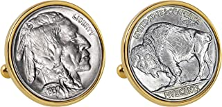 product image for American Coin Treasures Buffalo Nickel Bezel Cuff Links