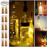 Amazon Price History for:20 LED Bottle Cork String Lights Wine Bottle Fairy Mini Copper Wire, Battery Operated Starry lights for DIY Christmas Halloween Wedding Party Indoor Outdoor Decoration, 10 Pack (warm white)
