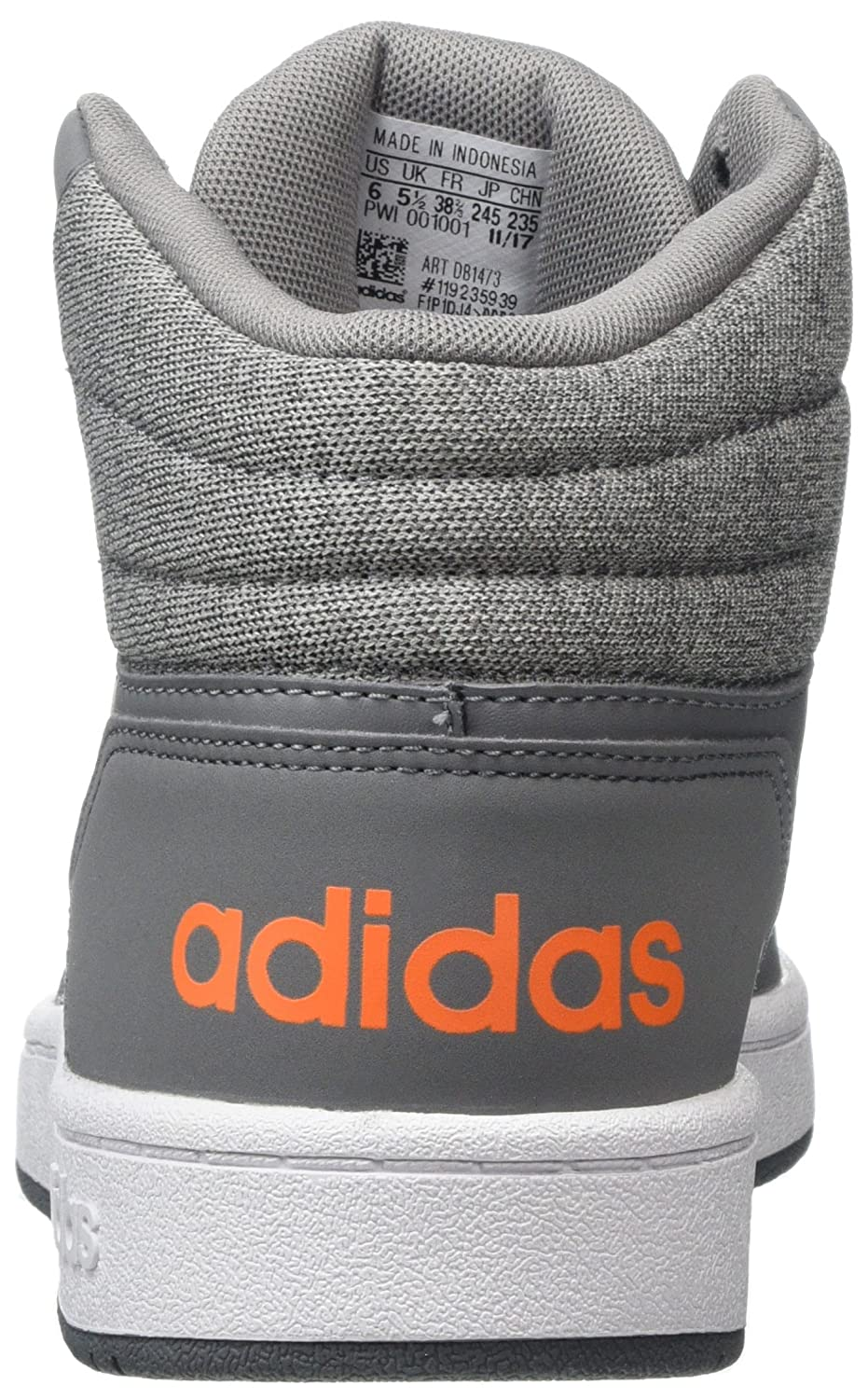 detailed look 62380 a5a67 Adidas Hoops Mid 2.0 K, Chaussures de Fitness Mixte Enfant, Gris (GritreFtwblaNaalre  000), 37 13 EU Amazon.fr Chaussures et Sacs