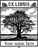 """Ex-Libris Tree rubber stamp Custom Made Personalized 2.75x2"""""""