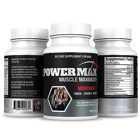 Powermax Testosterone Booster- 120 Capsules – Boost Testosterone Naturally- Test Booster- Testosterone Enhancing Formula