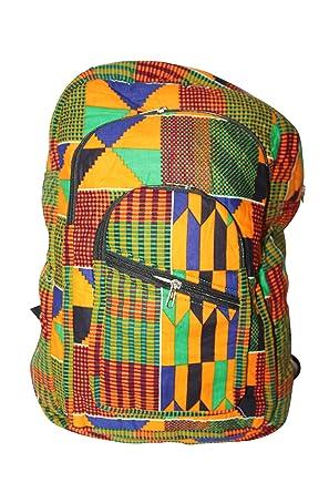 c18a592ae8a2 Africa Ghana Kente Colourful Backpack