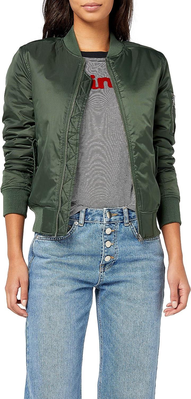 TALLA 34 (Tamaño del fabricante: XS). Urban Classics Ladies Basic Bomber Jacket Chaqueta para Mujer