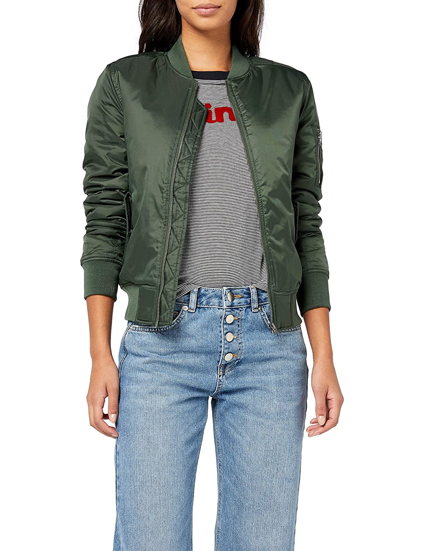 TALLA XS. Urban Classics Ladies Basic Bomber Jacket, Chaqueta para Mujer