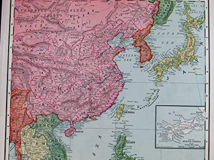 Amazon china french indochina siam vietnam japan philippines china french indochina siam vietnam japan philippines indonesia 1907 old map gumiabroncs Image collections